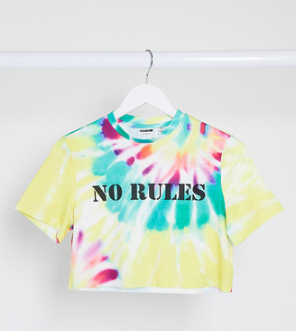 Noisy May Tall 'no rules' t-shirt in tie dye