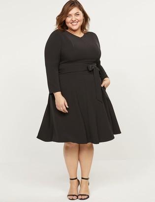 Lane Bryant Lena Long-Sleeve V-Neck Dress