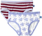 Kickee Pants Underwear Set (Toddler/Kid) - Tundra/Floral - 3T/4T