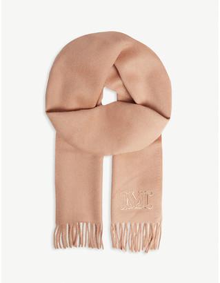 Max Mara Clara camel wool scarf