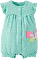 "Carter's Baby Girls' ""Tropical Plants"" Romper"