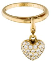Cartier Diamond Heart Charm Ring