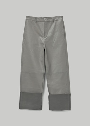 Jil Sander Men's Thirsk Leather Trouser Pants Size 46