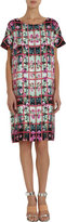 Mary Katrantzou Rose-Trellis-Print Shift