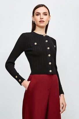 Karen Millen Military Button and Pocket Cardigan