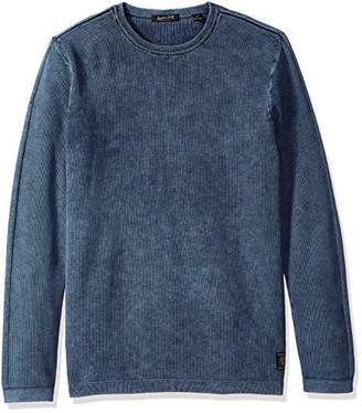 Scotch & Soda Men's Snow Washed Crewneck Pullover in Structured Knit