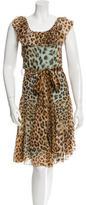 Blumarine Silk Leopard Print Dress