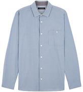 Jaeger Seersucker Stripe Shirt, Light Blue