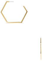 Marc by Marc Jacobs Hexagon Hoop Earrings