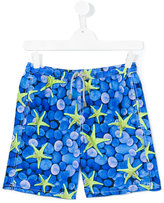 Mc2 Saint Barth Kids - teen Jean swim shorts - kids - Polyamide/Polyester/Spandex/Elastane - 14 yrs