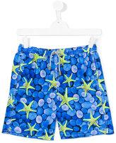 Mc2 Saint Barth Kids - teen Jean swim shorts - kids - Polyamide/Polyester/Spandex/Elastane - 16 yrs
