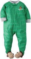 Carter's Striped Footie (Baby) - Monkey-24 Months