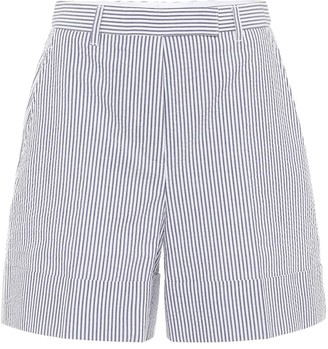 Thom Browne High-rise striped cotton shorts