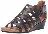 Mootsies Tootsies Women's Tegan Wedge Sandal Stucco 8 Medium US