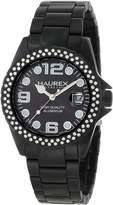 Haurex Italy Women's XK374DNN Ink Stones Aluminum Crustal Date Watch