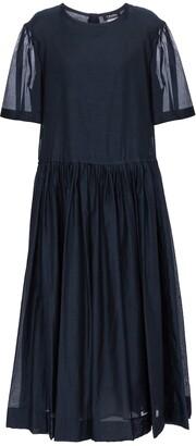 S Max Mara Caldeo cotton and silk midi dress