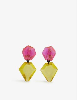 Monies Jewellery Tirana acrylic drop earrings