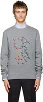 Carven Grey Embroidered Logo Sweatshirt