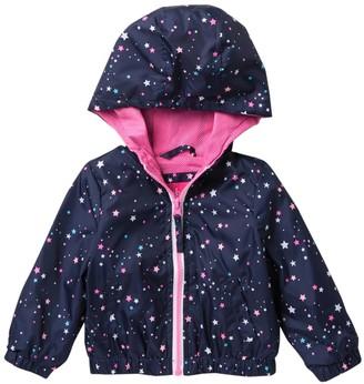 Pink Platinum Star Print Windbreaker Rain Jacket (Baby Girls)