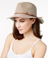 INC International Concepts Tweed Metallic Panama Hat, Only at Macy's