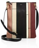 A.L.C. Colorblock Watersnake Leather Messenger Bag