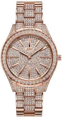 JBW Cristal 18K Rose Gold Over Stainless Steel 1/8 CT. T.W. Genuine Diamond Bracelet Watch-J6383b