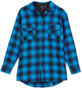 Burnside Blue Eldon Flannel Button-Up - Boys