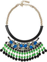 Etro Crystal-embellished gold-plated necklace