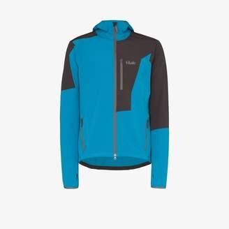 Tilak Blue and grey Softshell Trango hooded jacket