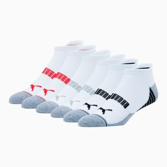 Puma Men's Low Cut Perforated Socks [6 Pack]