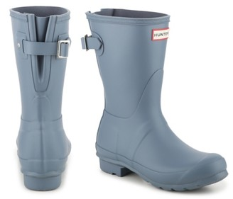 Hunter Short Matte Back Adjustable Rain Boot