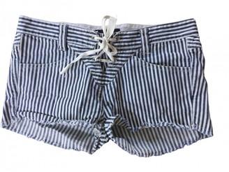 Isabel Marant Navy Cotton - elasthane Shorts