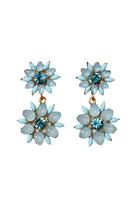 Carte Blanche Serenity-Blue Flower Earrings
