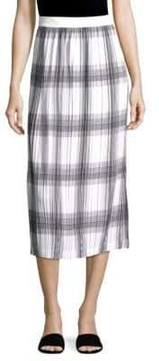 Helmut Lang Plaid Pleated Skirt