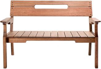 Alaterre Otero Eucalyptus Wood Outdoor 2-Seat Bench