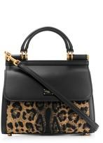 Dolce & Gabbana leopard Sicily top-handle bag