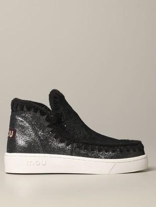 Mou Low-cut Eskimo Sneakers In Lurex Suede