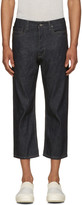 Rick Owens Blue Cropped Torrence Jeans