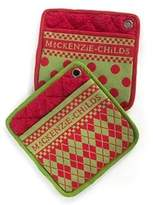 Mackenzie Childs MacKenzie-Childs Holiday Dot Pot Holders 100% Cotton - Set of 2