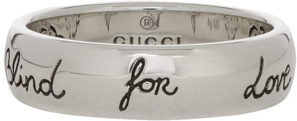 Gucci Silver Blind For Love Ring
