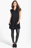 Kensie Zip Front Jersey Dress