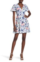French Connection Armoise Floral Print Crepe Dress
