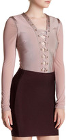 Wow Couture Lace-Up Bodysuit