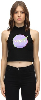 Give Me Space Interference Cotton Jersey Top