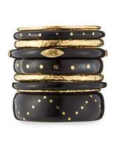Ashley Pittman Ulinzi Dark Horn Stacking Bangles, Set of 9