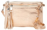 Capelli of New York Decorative Zipper Crossbody