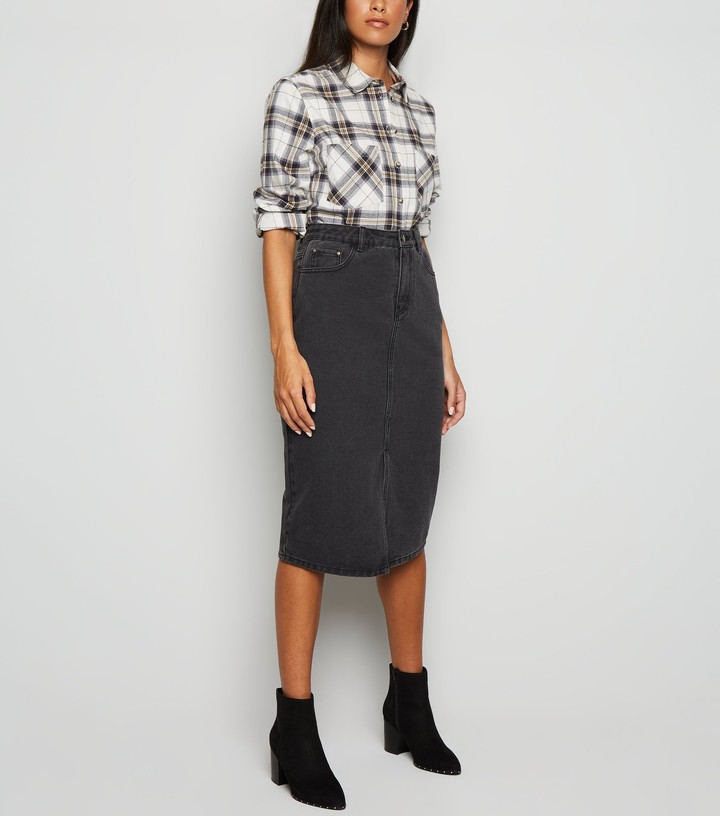 Thumbnail for your product : New Look JDY Denim Midi Skirt