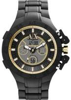 Armani Exchange A|X Men's AX1194 Black Rubber Quartz Watch with Digital Dial