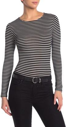 Blvd Long Sleeve Stripe Bodysuit
