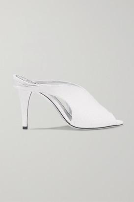 Givenchy Python Mules - White